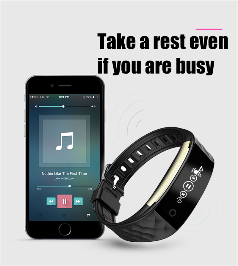 Waterproof Bluetooth Smart Band S2 Smart Wristband Bracelet Heart Rate Pedometer Sleep Fitness Tracker for Android IOS Phones 19