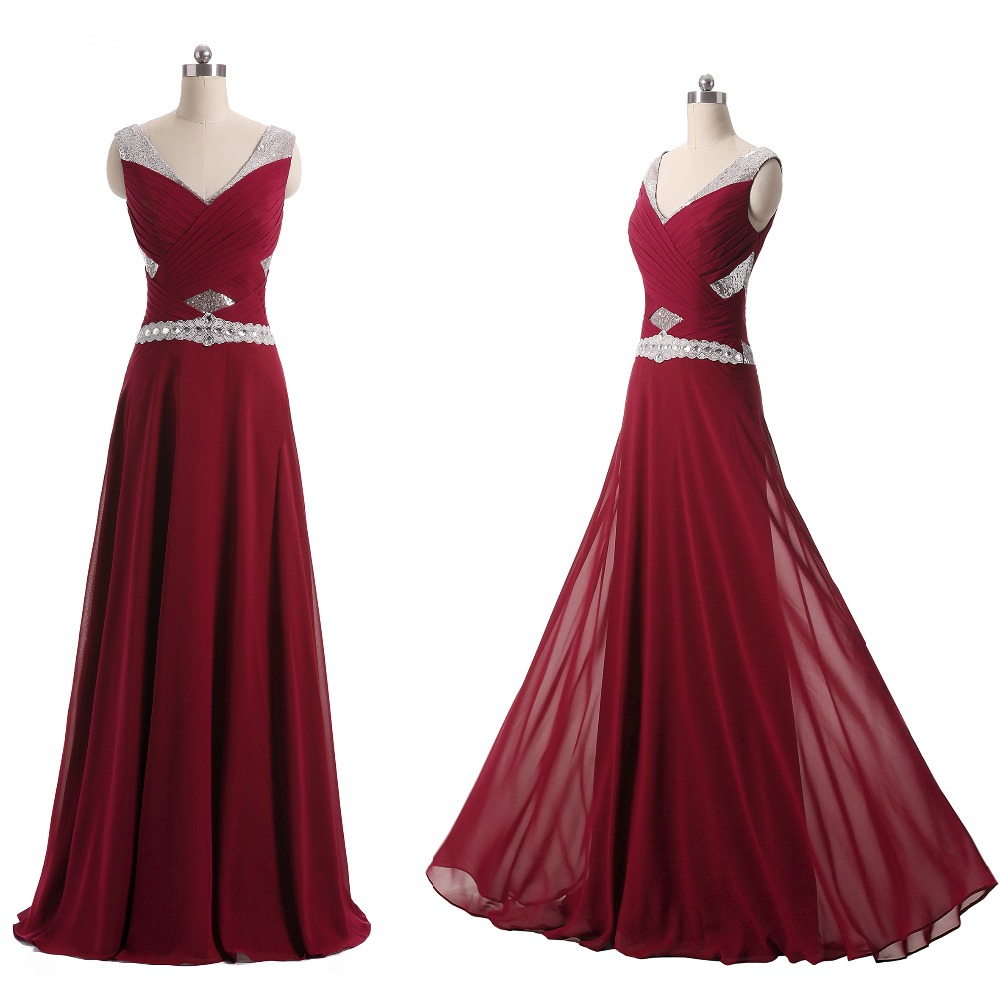 Online get cheap long purple bridesmaid dresses under 100 new arrivals beaded v neck chiffon long wedding bridesmaid dresses cheap under 100 plus size purple blue pink navy c009 ombrellifo Image collections