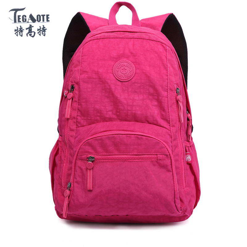 TEGAOTE Nylon Waterproof School Backpack for Girls Feminina Mochila Mujer Backpack Female Casual Multifunction Women Laptop Bag tegaote nylon waterproof school backpack for girls feminina mochila mujer backpack female casual multifunction women laptop bag