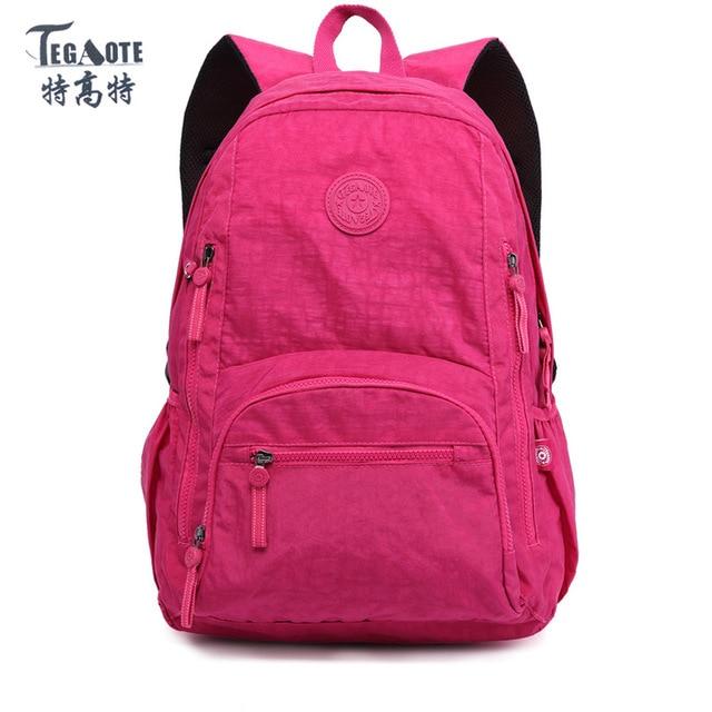 TEGAOTE Nylon Waterproof School Backpack for Girls Feminina Mochila Mujer  Backpack Female Casual Multifunction Women Laptop d304a85d7d