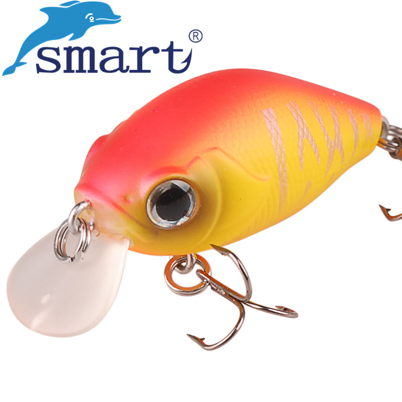 Crankbait Fishing Lure 40mm 7g VMC Hook Floating(1.0m) Hard Baits Isca Artificial Para Pesca Leurre Souple Peche Fishing Tackle