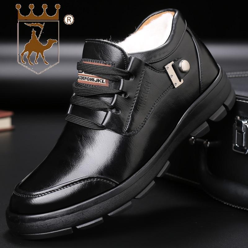 Antideslizante Inferior Nuevo Lana Hombre Backcamel Hombres 38 44 Grueso Tamaño Terciopelo Más Zapatos De Algodón brown Blcak Calidad Alta Cálido Calzado Para Invierno P7d7zAqw