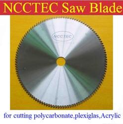 16 ''160 tanden 3.0mm tanden dikte 405mm Hardmetalen zaagblad snijden polycarbonaat, plexiglas, perspex, acryl