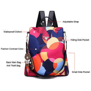Vfemage Multifunction Backpack Women Oxford Bagpack Female Anti Theft Backpack School Bags for Teenager Girls Sac a Dos Mochila
