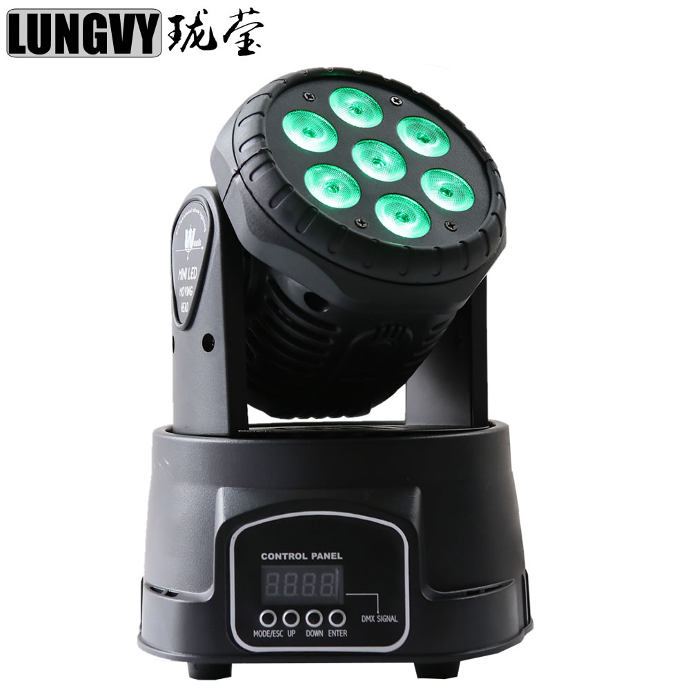 Free Shipping 7x12w RGBW 4IN1 LED Mini Moving Head Light DMX Wash Spot Light For Event Disco Stage 4pcs lot with flight casflightcase led wash mini moving head light 7x12w rgbw 4in1 led dmx controller dj disco light