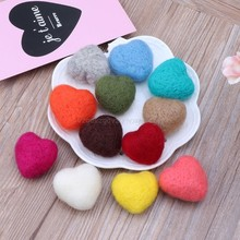 Photography Felt Love Shape Props Tiny Baby Girl Boy Photo Shoot Handmade Felt Heart Shaped Props F20 19 Dropship(China)