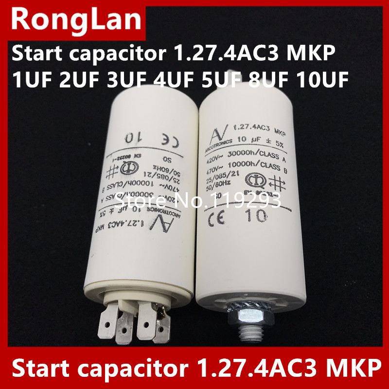 [BELLA] [nouvelle D'origine] ARCOTRONICS Moteur onduleur condensateur de démarrage 1.27.4AC3 MKP 1 UF 2 UF 3 UF 4 UF 5 UF 8 UF 10 UF