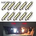 10 шт. C5W LED 44 мм 4SMD белая купольная гирлянда светодиодная автомобильная лампа 6411 578 211-2 12844 автомобильная лампа Внутреннее освещение Автомобил...