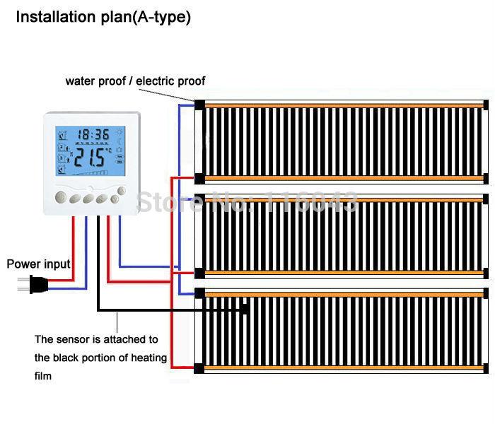 Heating film wiring plan A