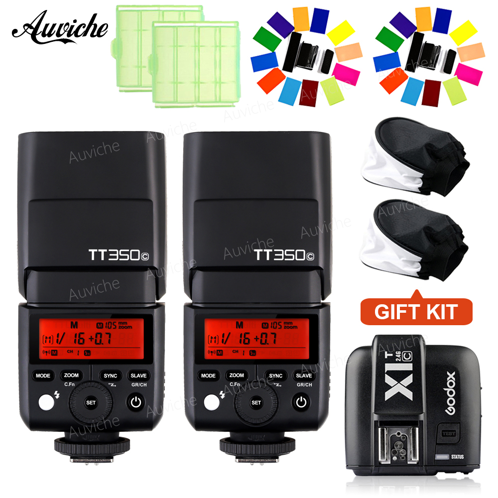 GODOX TT350C mini Camera Flash Speedlite TTL Flash Speedlite with X1T-S Transmitter trigger for canon Speedlite SLR camera цена