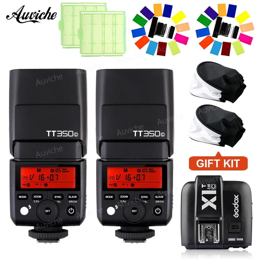 цена на GODOX TT350C mini Camera Flash Speedlite TTL Flash Speedlite with X1T-S Transmitter trigger for canon Speedlite SLR camera