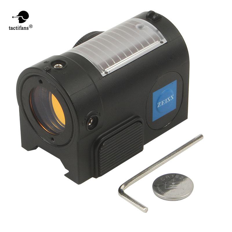 Tactifans Высокое качество Zeiss 1x20 QD s-точка компактный Красный точка зрения Область Reflex с автоматическим Яркость чувствительной управление
