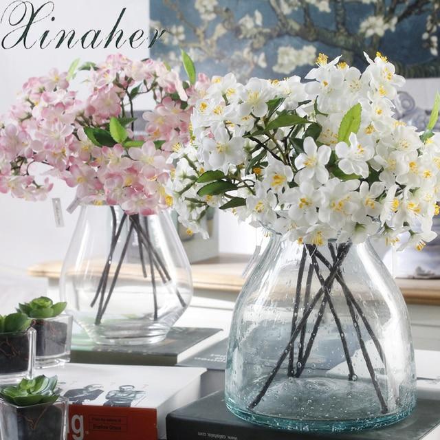 XINAHER tanaman Buatan plastik bunga palsu dekorasi rumah Sutra Bunga Sakura  Kecil Buatan Bouquet Pernikahan 638512c23c