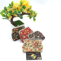 HB@100 pcs Hot wallet key buckle cute print fashion coin purse convenient wallet dhl dropship