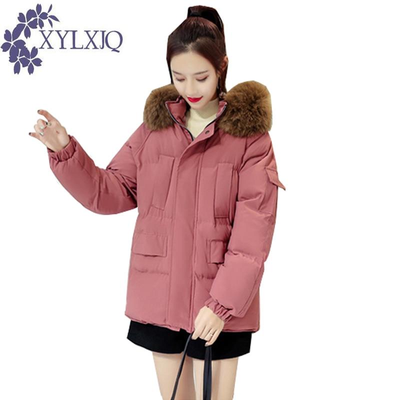 khaki Mode La Chic Coton Rembourré Black Long Épais Grand Xylxjq Style Manteau Chaud Parka Hiver Veste Femmes Coréenne peel Col Fourrure Jb223 De Red vw0PFq1
