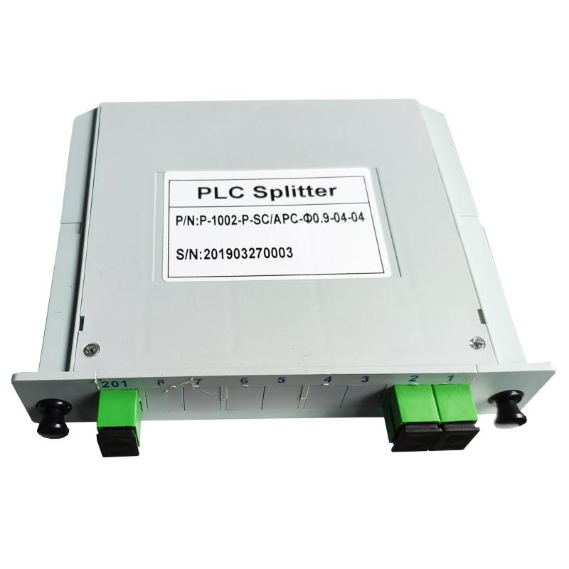 ZHWCOMM SC APC PLC 1X2 FTTH Insertion Type Fiber Optic Splitter Optical Coupler SC Cassette-type 1X2 Gpon Optical Splitter