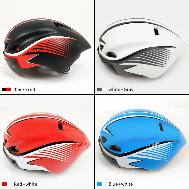 Road racing triathlon aero cycling helmet men movistar time trial bike helmet safety tt bicycle equipment