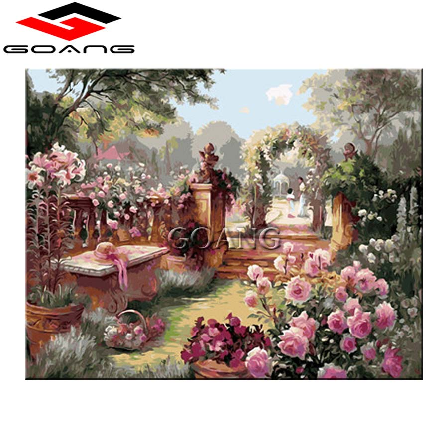 5d diy diamond painting cross stitch diamond embroidery garden flower diamond mosaic wall paintings home decor gift