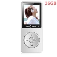 2017 Más Reciente IQQ X02 16 GB Reproductor de MP3 con Altavoz de 1.8 Pulgadas de Pantalla se puede jugar 80 horas con FM reproductor de música mp3 jugador del deporte Blanco
