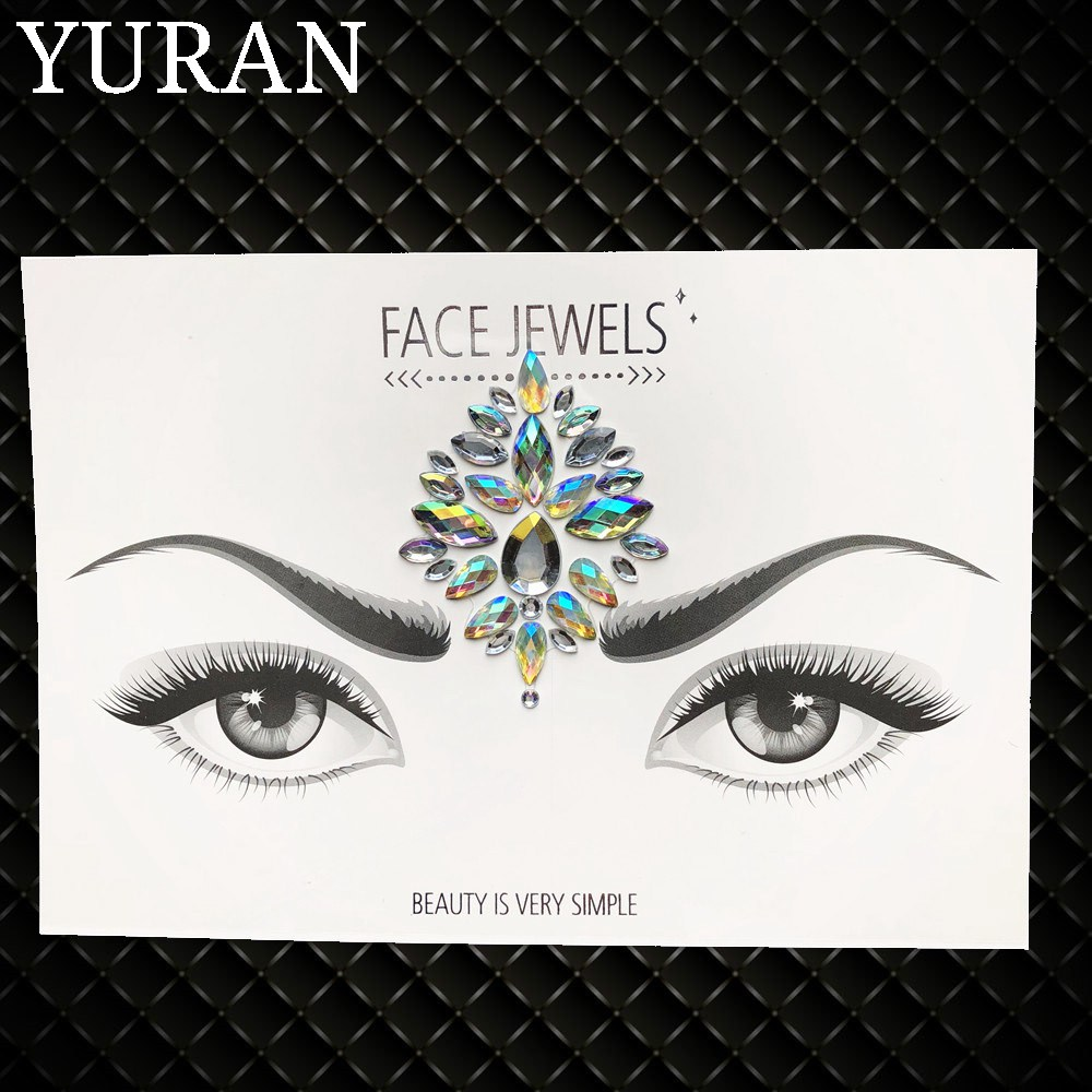 Summer Style Flash Eye Gemstone Temporary Tattoo Stickers 1
