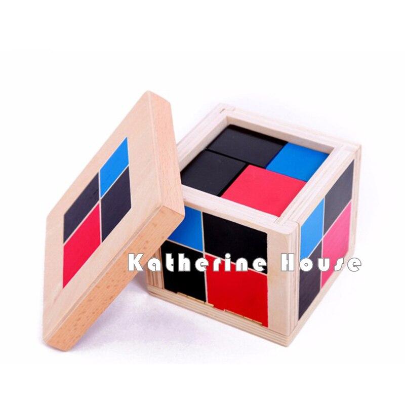 Jucărie pentru bebeluși Montessori Algebrice Cub binomic Educație pentru copiii de vârstă anterioară Instruire preșcolară Matematică Jucării pentru copii Brinquedos Juguetes