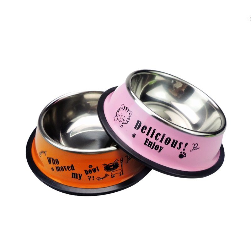 Stainless Steel Pet Feeder Bowls for Dog Puppy Cats Food Water Feeder Pets Supplies Feeding Dishes Dogs Bowl