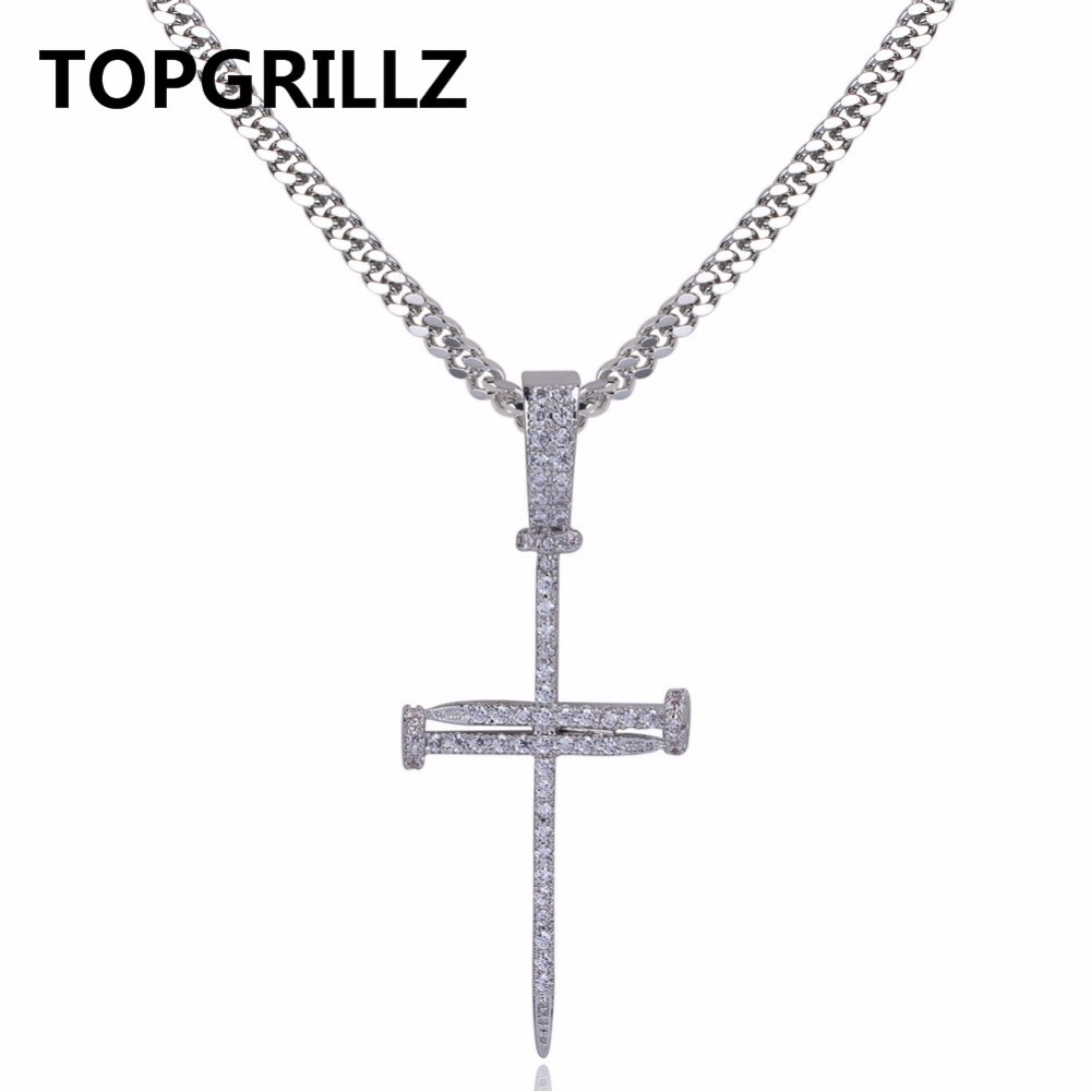 Aliexpress.com : Buy TOPGRILLZ Gold Personality Splicing Nail Cross ...