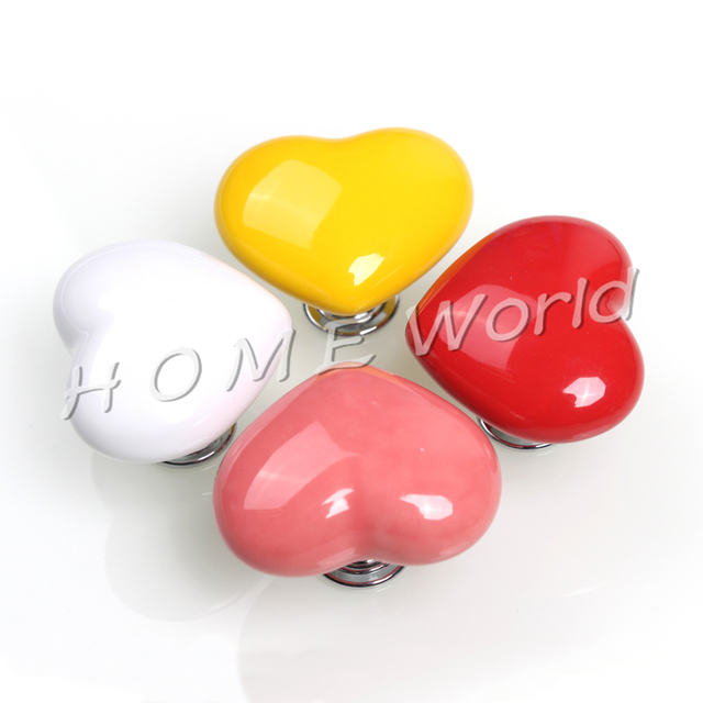 Cute Cartoon Heart Shape Drawer Handles Cabinet Knobs And Handles Couples  Furniture Handle For Sweet Couple