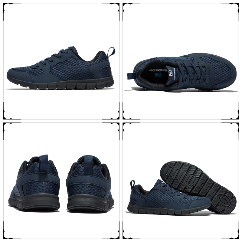 Купить с кэшбэком Running Shoes Men Mesh Breathable Comfortable Sport Shoes Outdoor Walking Lightweight Athletic Sneakers For Male Blue Size 39-50