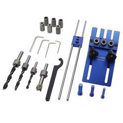 BHTS-Feng sen деревообрабатывающий инструмент DIY деревообрабатывающий Столярный станок Высокоточный дюбель джиг набор 3 в 1 сверлильный локатор ...