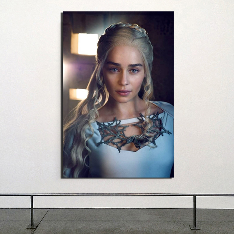 Daenerys Targaryen Game Of Thrones Canvas Painting Posters Prints Marble Wall Art Painting Decorative Pictures Modern Home Decor