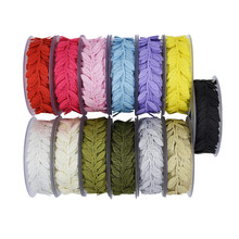 15Meters 13Colors Ultrasonic Embossing Leaves Ribbon Lace Decorative Trim Gift Packaging