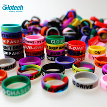 Glotech 100PCS Silicone rubber band ring Non Slip decorative vape band  for electronic cigarette mechanical mods RDA vaporizer