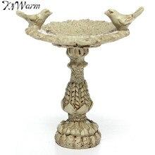 Kiwarm 1:12 Scale Dollhouse Miniature Resin Bird Bath Fountain Fairy G