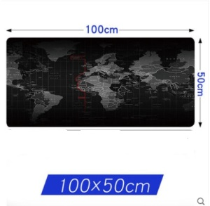 Image 2 - WESAPPA 100X 50/90X40CM World Map rubber mouse pad large mouse mat desk mats big mousepads gaming rug XL for office gaming