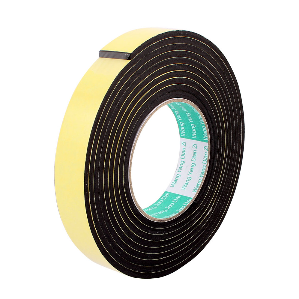 UXCELL 3M 8mm 12mm 25mm Single Sided Sponge Tape Adhesive Sticker Foam Glue Strip Sealing Sponge Foam Rubber Strip Neoprene Tape