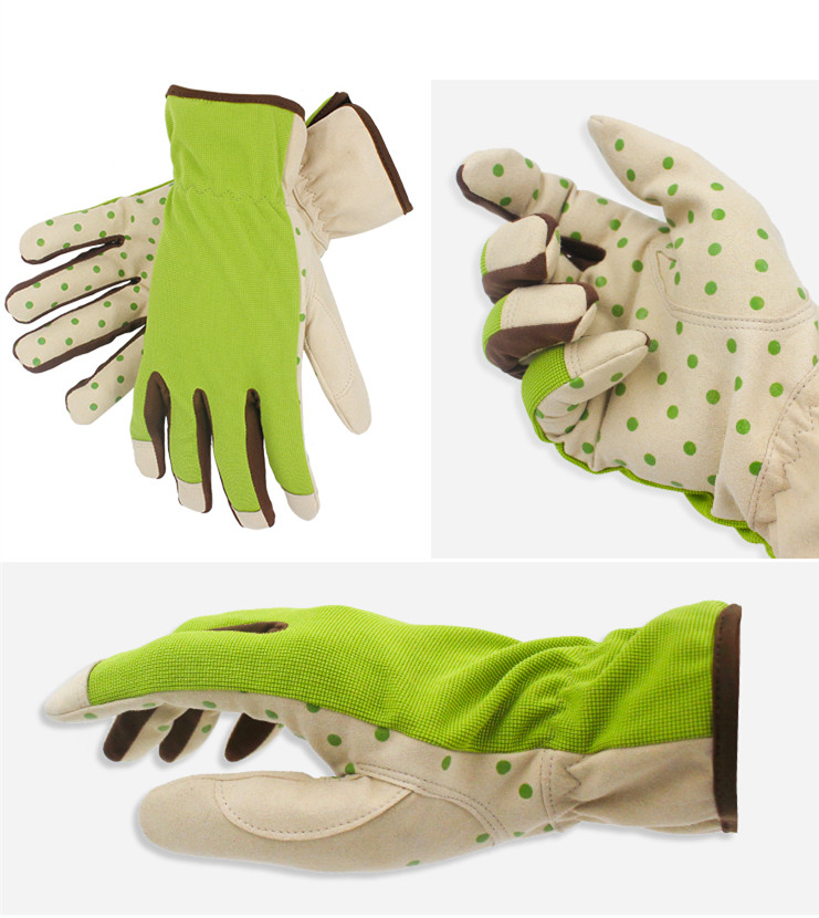 Купить с кэшбэком Free shipping three colors flower logo working gloves landscape gardening anti-slip wear resistance hoticultural tool specialist