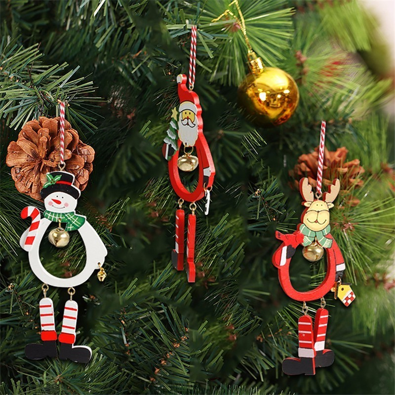1 PC Santa Dolls Gifts Pendant Sale Christmas Tree Decorations Hanging Ornaments Craft Supplies New Year Decor