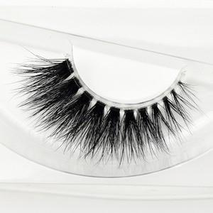 Image 1 - Visofree Mink Lashes 3D Mink Eyelashes Invisible Band Natural Black Mink False Eyelash Full Strip cilios posticos Reusable F2
