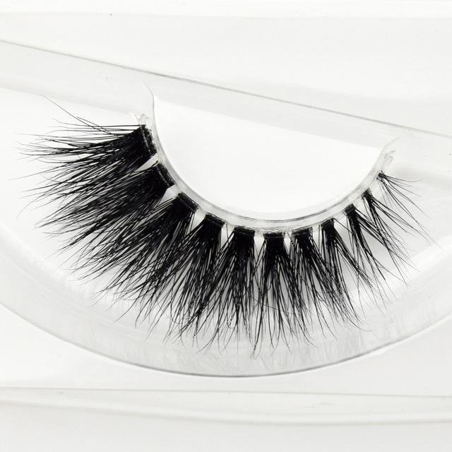 Visofree Mink Lashes 3D Mink Eyelashes Invisible Band Natural Black Mink False Eyelash Full Strip cilios posticos Reusable F2