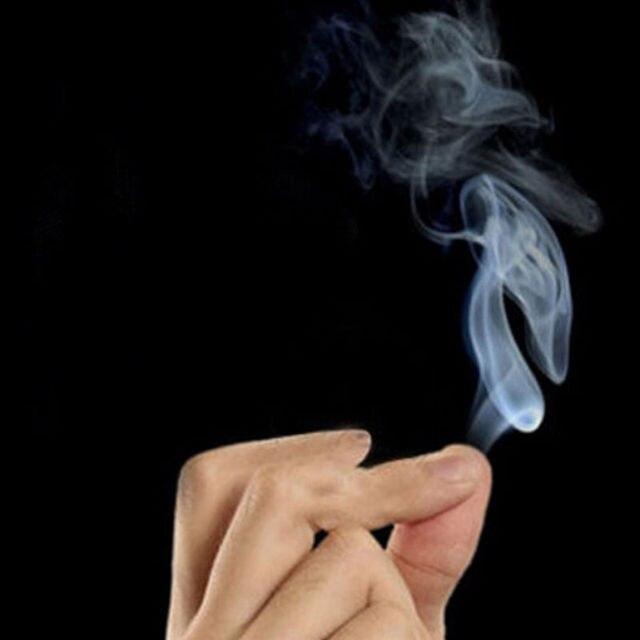 Novedad humo mágico de las puntas de los dedos truco de magia broma sorpresa diversión mística