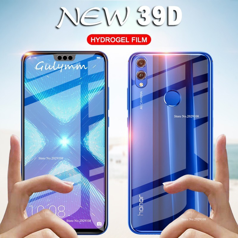 39D Front and Back Hydrogel Film For Huawei P20 P30 Lite Pro P Smart 2019 Screen Protector For Honor 8X 10 Lite Ultra thin Film image