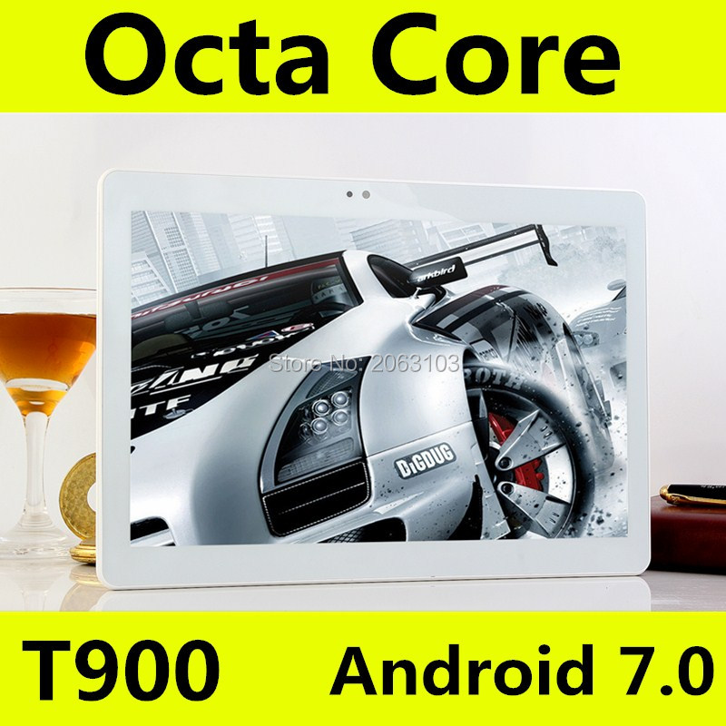 Android 7.0 Octa Core 10.1 Inch T900 3G 4G LTE Tablet Pc 1920*1200 IPS HD 8.0MP 4GB RAM 128GB ROM Bluetooth GPS Mini Tablet