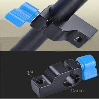 Standard 15mm Slider Rail Clamp Mount Holder for DSLR Camera Rigs Magic Arm LED Monitor LED Light Photo Studio Accessory