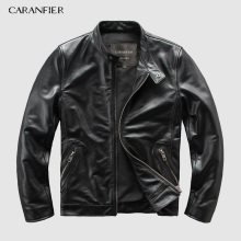 CARANFEIR Brand Vintage Genuine Leather Jacket  Mens 100% Cowhide New Style Clothes Motor Biker Leather Jacket DHL Free Shipping brand new 140ddi35300 with free dhl