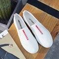Estudantes edição han lazer esportes sapatas de lona homens sapatos um pedal sapatos brancos de super primavera outono sapato branco sneakers baixa ajuda sapatos