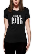Made In 1986 Retro 30th Birthday Gift Idea Cool Women T Shirt Bday Present Fashion