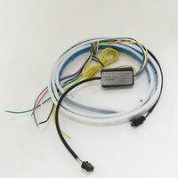 HengChiLun 120cm DRL Flexible Car Flow LED Strip Trunk Light Strip Turn Signal Tail Braking Signal