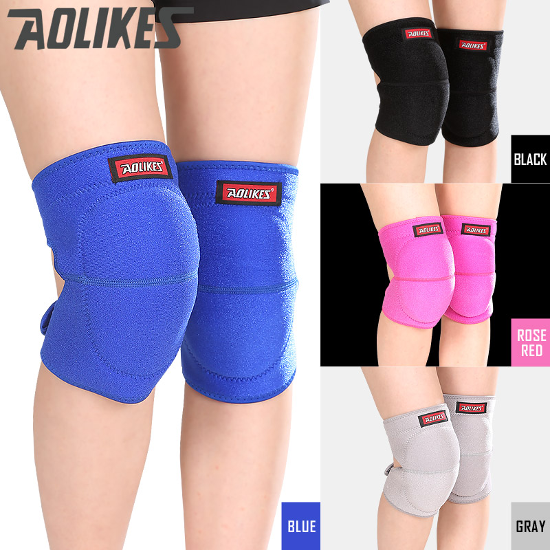 AOLIKES 2pcs/lot Volleyball knee pads thicker sponge sports support kneepads for basketball dance joelheira rodilleras protector