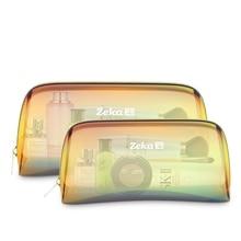 Brand Designer Hologram Laser Cosmetic Bag Travel Organizer Women Transparent Makeup Bag Laser Holographic Storage Make Up Bag недорого